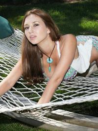 Shay Laren in the hammock